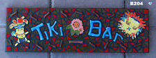 TIKI BAR with CHIEF and MASK  MOSAIC SIGN FOR YOUR PATIO BAR at your Home B204