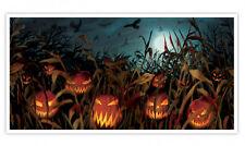 5ft Halloween Evil Citrouille Bannière Décoration Fête Champ de Screams Scène