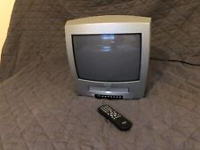"""Philips Retro Gaming Display PHILIPS 14PV358/07 Combi 14"""" CRT TV With Remote VGC"""