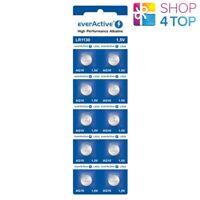 10 EVERACTIVE ALKALINE CELL LR1130 BATTERIES LR54 G10 10BL 1.5V EXP 2023 NEW