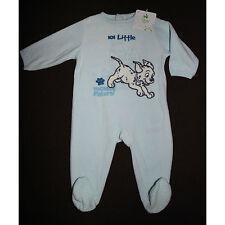 DISNEY BABY pyjama grenouillère velours bleu 101 DALMATIENS taille 12 mois NEUF