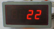 UNIVERSALE 12V temperature gauge 0 ~ 1300-Celsius, fahrenheit.red Display. EGT