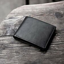 RFID Bifold Business Men's High Quality Slim Genuine Leather Money Clip Wallets