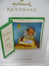 HALLMARK 2012 A Child Is Born Baby Jesus Manger Scene  Ornament New in Box