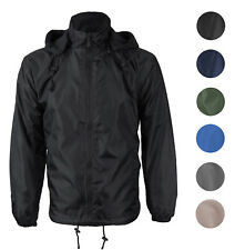 Men's Water Resistant Polar Fleece Lined Hooded Windbreaker Rain Jacket
