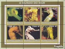 Mosambik 2632-2637 Velletje postfris MNH 2002 Wereld van Marine