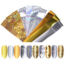 10 Pcs/Box Gold Nail Foils Starry Sky Stickers Holo Colorful Nail Art Decals