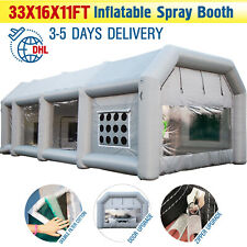 Large Mobile Portable Inflatable Car Spray Paint Booth Custom Tent 33x16x11Ft US