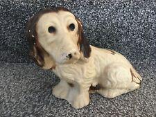 Large Vintage Antique Staffordshire Pottery Spaniel Dog Figure