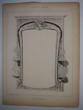 JEAN CHERRIER Glaces Miroirs EMILE THEZARD Gravure ART NOUVEAU 1902