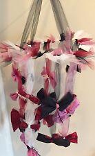 Baby Shower Gift Handmade Pom Pom Bow Tulle Mobile Decoration Nursery Rustic