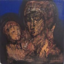 Madonna with Child by Mexican Artist Guillermo Ceniceros, Acrylic on Wood