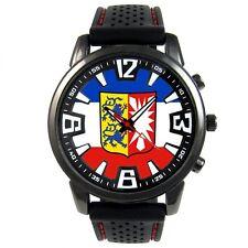 Germany Schleswig-Holstein Service Flag Mens Silicone Strap Wrist Watch S434F