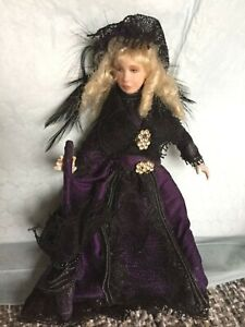 Artist Made Dollhouse Doll In Victorian Dress
