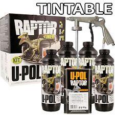 U-pol Raptor Tough Urethene Coating Truck Bed Liner TINTABLE + Underbody Gun