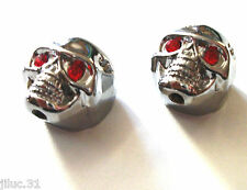 NEW 2 KNOBS METAL SKULL argent - bouton pour guitare