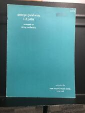 Gershwin: Lullaby Arranged For String Orchestra. Used Score