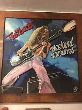 Ted Nugent's Weekend Warriors  hand carved album cover on wood