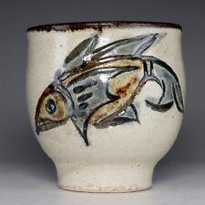 YUNOMI  - Pottery Tea Cup in Ryukyu Tsuboya ware by Kinjo Jiro #2397