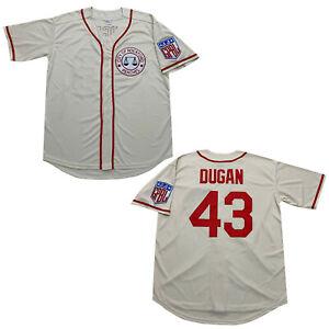 Tom Hanks 43 Jimmy Dugan Rockford Peaches Baseball Jerseys Men