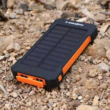 X-DRAGON 20000mAh Power bank Solar panel Externer Zusatzakku Ladegerät 2USB LED