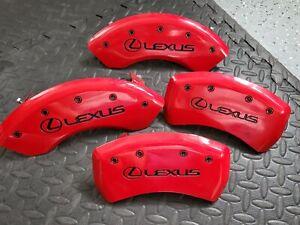 "2013-2018 Lexus ES300h ES350 Front + Rear Red ""MGP"" Brake Disc Caliper Covers"