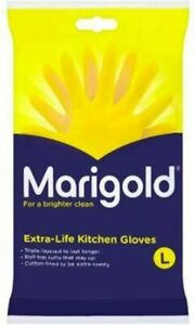 Marigold Large Rubber Gloves Yellow Rubber Latex Lined