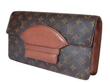 LOUIS VUITTON Vintage Monogram Canvas Leather Clutch Bag LP2407