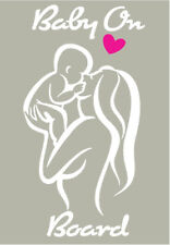 Baby On Board Mom & Baby Vinyl Decorative Decal-Vehicle Window/Bumpers Walls etc