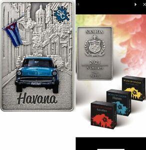 5 Dollar Samoa 2021 AF - 2 OZ Splash of Colours - Havana 2021