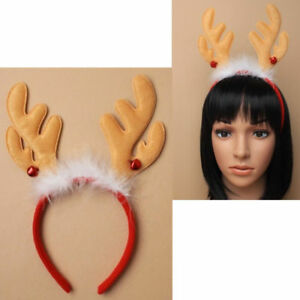 New Christmas Headband Deely Bopper Santa Hat, Reindeer, Snow Ball Fancy Dress