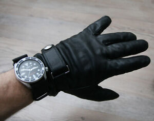 Polo by Ralph Lauren real leather black insualted winter gloves M