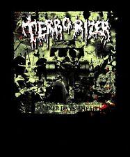 TERRORIZER cd cvr Grind Core DARKER DAYS AHEAD Official SHIRT LRG morbid angel