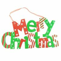 Merry Christmas Glitter Hanging Sign Holiday Wall Décor