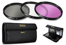 Vivitar 62mm High Resolution HD 3 Pc. Filter Kit for Cameras,Camcorders & Lenses