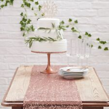Ginger Ray Rose Gold Sequins Table Runner Christmas Wedding New Years Party