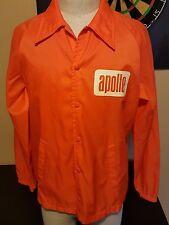 Vintage 70s Apollo Orange Button Ebert Jacket Theater NASA Space Creed Disco