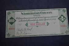 1933 One Dollar Scrip Washington County Oregon