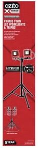 Ozito Worklights Tripod Hybrid Twin LED SKIN ONLY corded or battery operated 18V