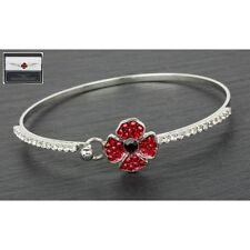 Equilibrium Silver Plated Poppy Jewellery : Delicate Poppy Bangle