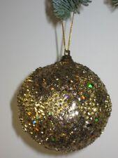 6 Set Palle di Natale Accessori di Natale 7,5 cm Oro Nr.00130 Nuovo