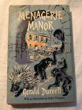 Menagerie Manor Gerald Durrell 1964 First Edition
