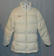 Womens Columbia XCO Coat Jacket Size M Ivory Down Puffer Faux Fur