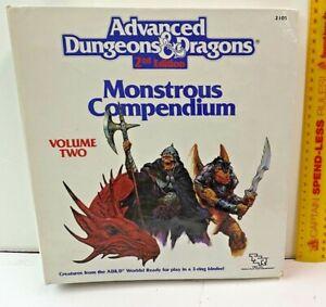 ADVANCED DUNGEONS & DRAGONS MONSTROUS COMPENDIUM + DRAGONLANCE VOLUME + DIVIDERS
