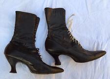 True Leather Antique Victorian Edwardian Women's Boots Size 6.5 - 7