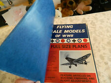 """""""FLYING SCALE MODELS OF WW11"""" MODEL BUILDER 1974 PUBLICATION 1/24TH SCALE F/F"""
