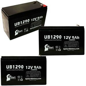 3x 12V 9Ah Sealed Lead Acid Battery For MINUTEMAN PRO1500RT UB1290