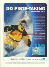American Express Blue Credit Card 1999 Magazine Advert #718