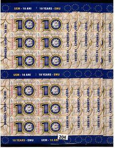 /// 10X ROMANIA - MNH - EURO - COINS - 2009 - WHOLESALE