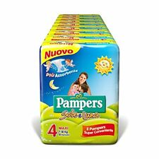 Pampers sole e Luna Maxi 144 Pannolini Taglia 4 (7-18 Kg)